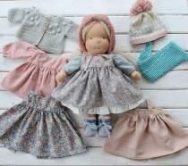 CUSTOM Waldorf doll Waldorfdoll  Waldorfinspireddoll  Natural fiber doll Waldorf doll clothes  Soft doll Cuddle doll(PRE ORDER.NEXT SHIPPING DAY 15 DAYS)