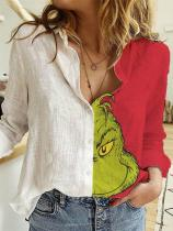 Grinch Face Long Sleeve Shirt
