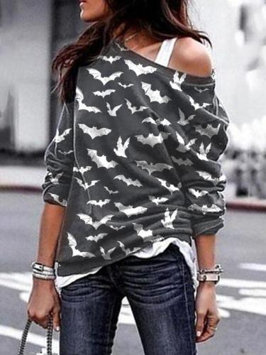 Women's Halloween Print Sweatshirt