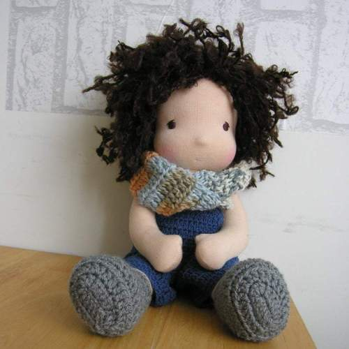 Waldorf doll boy 12 inch Made to order 30 cm soft doll with clothes Custom steiner toys