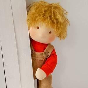 Waldorf boy doll. Textile cloth doll. Baby boy gift. Gift for son. Custom doll. Rag doll. Toddler toy. Baby boy toy. Personalised gift