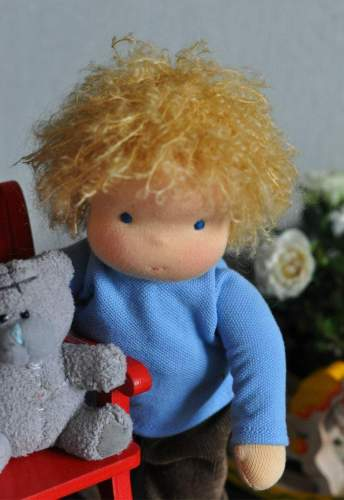 Waldorf baby doll for kids Denis 7,87  (20 cm) MADE TO ORDER soft doll\doll boy