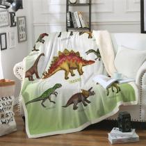 Dinosaur Sherpa Fleece Throw Blanket