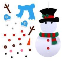 DIY Felt Christmas Snowman or Tree