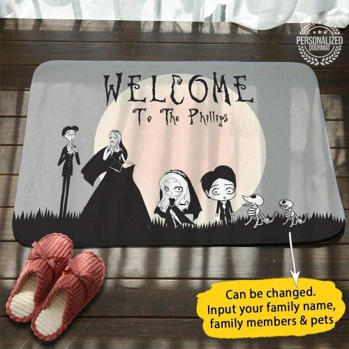 Corpse Bride Personalized Name Doormat
