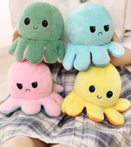 Plush octopus Toy Reversible octopus Flip Color Plush Doll