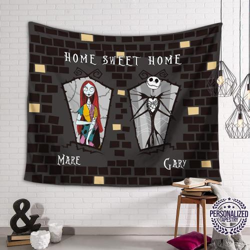 Jack Sally Sweet Home Personalized Tapestry