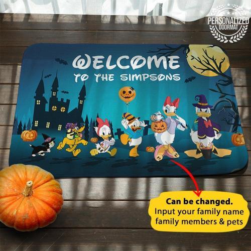 Halloween Coolest Duck Personalized Doormat