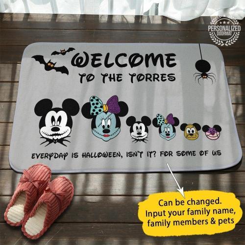 Coolest Halloween Personalized Doormat