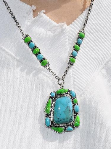 Turquoise Silver Necklace