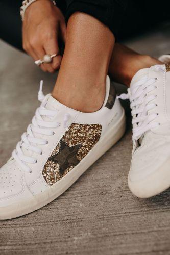 Forrest Sneakers - Gold Glitter