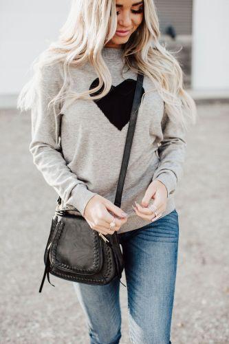 Heart Knit Pullover