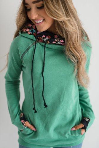 DoubleHood™ Sweatshirt - Spring Blooms