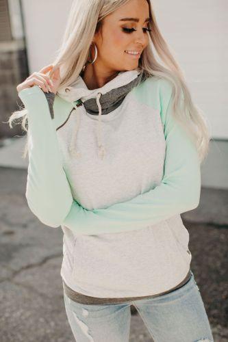 Baseball DoubleHood™ Sweatshirt - Mint