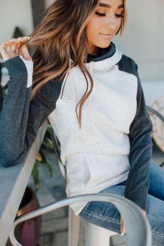 DoubleHood™ Sweatshirt - Quilted Natural