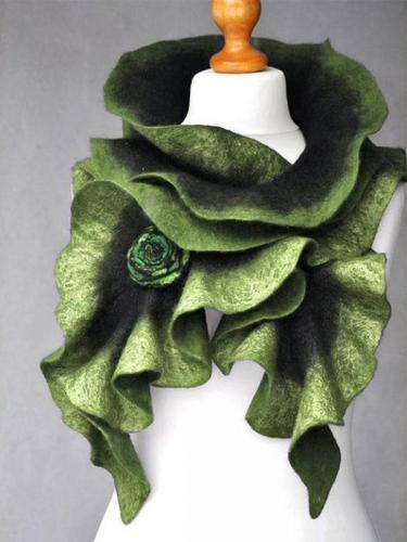 Casual Cotton-Blend Ombre/tie-Dye Scarves & Shawls