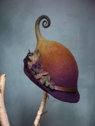Brown Vintage Cotton-Blend Hats