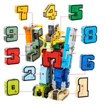 🤖Digital transformation robot team car body robot 0-9 alphanumeric assembly puzzle full set