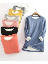 ⭐Hot Sale Buy two get free shipping⭐Casual Fleece-blend Round Neck Solid Long Sweatshir