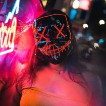 😈Hot Sale 😈 Halloween-Party & Rave LED Purge Mask