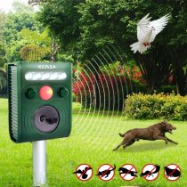 Garden Ultrasonic PIR Sensor Solar Animal Dispeller Strong Flashlight Dog Repeller