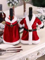 Christmas Red Christmas Suit Wine Bottle Decoration Set