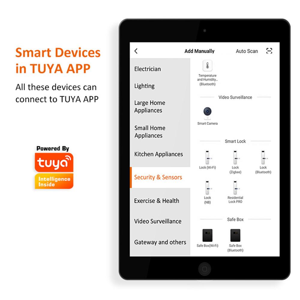 5-In-1 Smart Lock With WiFi APP Password RFID Unlock