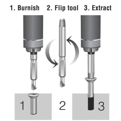 Damaged Screw Extractor (Set of 4)