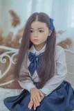 WAXDOLL ラブドール 108cm バスト平 #Molly シリコン製頭部+TPEボディ 睫毛と眉毛植毛加工