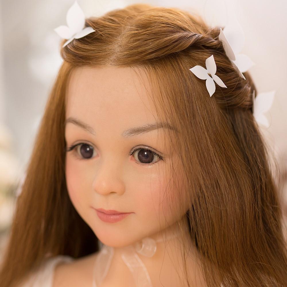 WAXDOLL ラブドール 108cm バスト平 #mimi シリコン製頭部+TPEボディ 睫毛と眉毛植毛加工