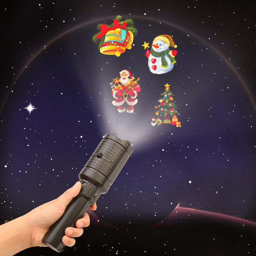 Portable Projector Lights Rechargeable Anime Projector Flashlight Landscape Lights