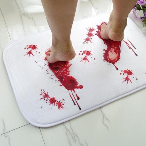 Halloween Blood Footprint Pattern Carpet