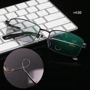 Memory Titanium Anti-blue Light Intelligent Zoom Far And Near Dual-use Reading Glasses