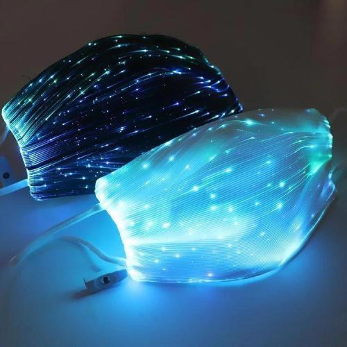 Colorful Fiber Optic Light Up Mask (Choice Of Seven Lights)