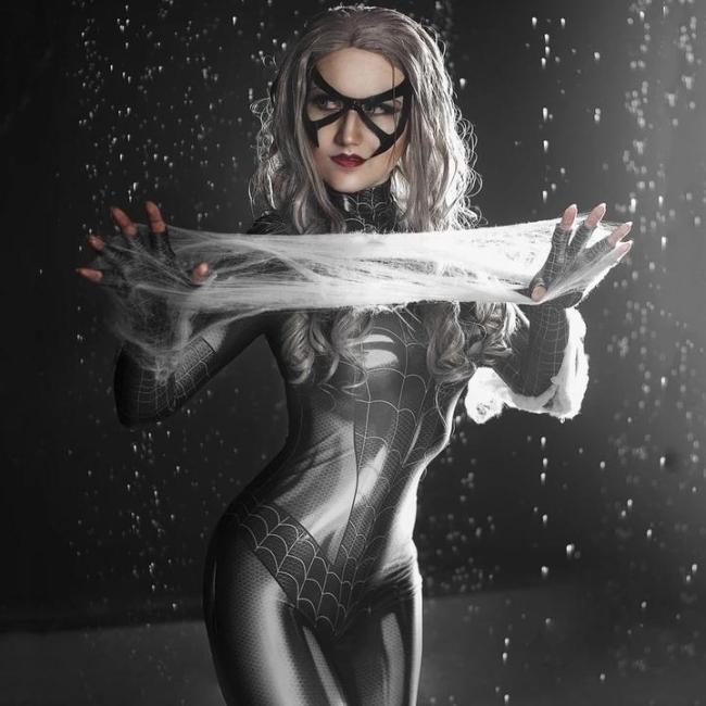 Women Halloween Spider Bodysuit Dress Up
