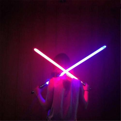 2-IN-1 LED LIGHT UP SWORDS SET FX DOUBLE BLADED DUAL SABERS