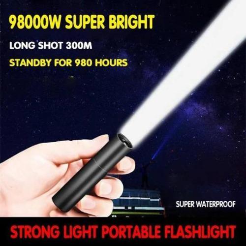 USB Strong Light Portable LED Flashlight