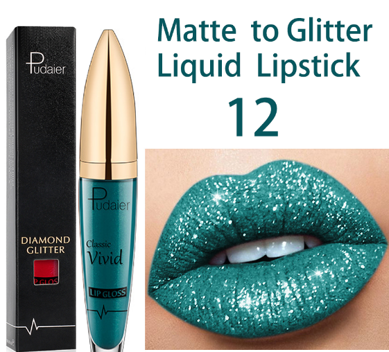 18 Color Diamond Shiny Long Lasting Lipstick