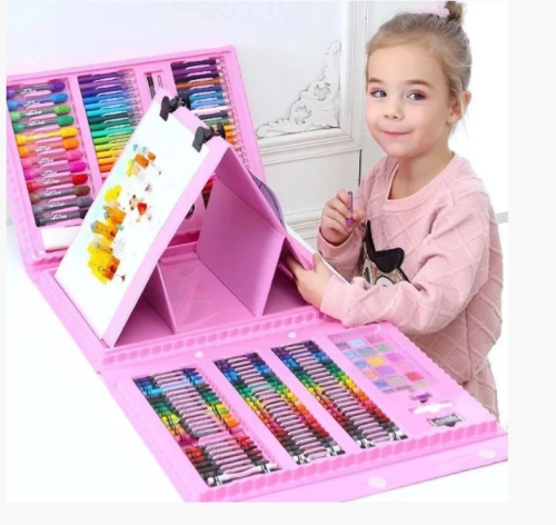 Children's drawing kit 208 items in a convenient case with a pen