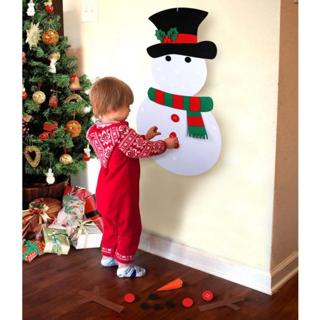 Best Gift For Children-DIY Felt Christmas Tree / Snowman Set