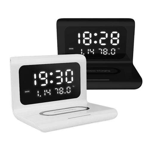 2020 New Creative Wireless Phone Charging station with Digital Alarm Clock 🔥
