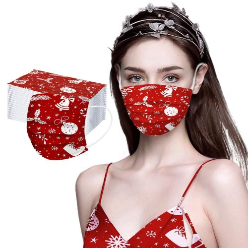 Christmas Decor Mask- 100PCS