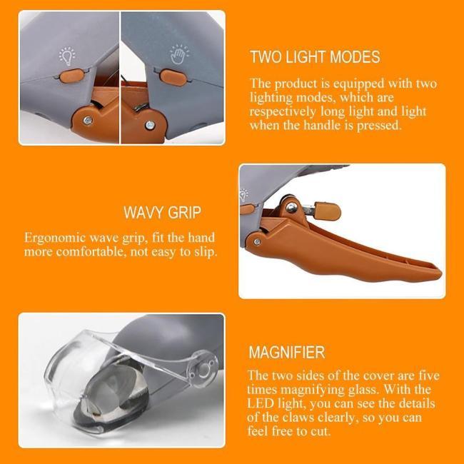 LED LIGHT PET NAIL CLIPPER
