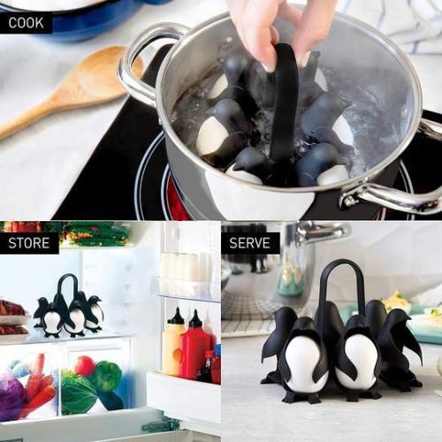 3 IN 1 Penguin-Shaped Boiled Egg Cooker