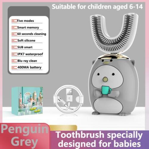 Smart 360 degree U-shaped children's electric toothbrush