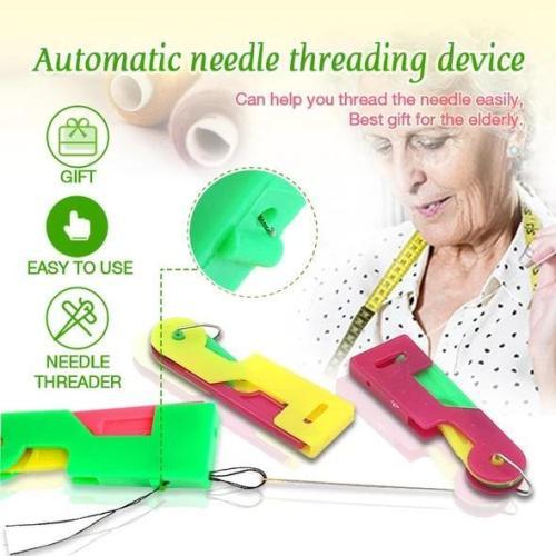 Automatic needle threading device