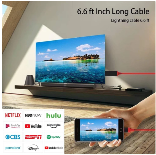 Mobile Adaptor 1080P3-in-1 Lightning HDMI To TV