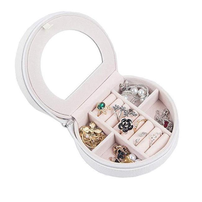 Portable Jewelry Box Mini Simplicity Jewelry Box Small Storage Box Ear Stud Box Ring Bag European Velvet Jewelry Box