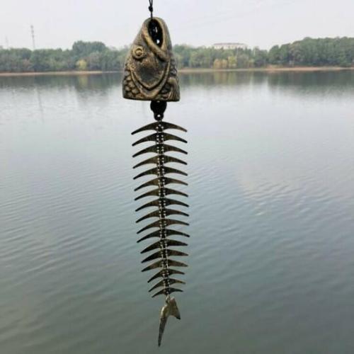Metal Fish Bone Wind Chimes