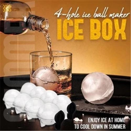 Hole ice ball maker 4-hole icebox(Summer Essentials)